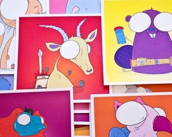 Creepy Animal Print (First Series)