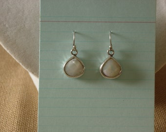 Mother of Pearl and Silver Earrings