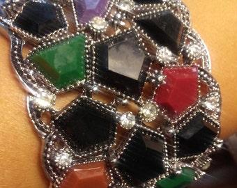 Metal dazzling bracelets eye Catch