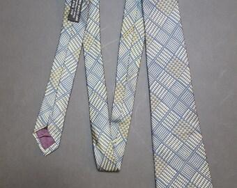 Vintage 1980s Harvey Nichols of London retro silk Tie