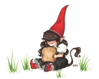 GnomeTroll Postcard Print