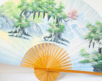 Beautiful hand-painted vintage fan