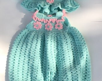 Teal & pink  accent  bubble suit with Cardigan