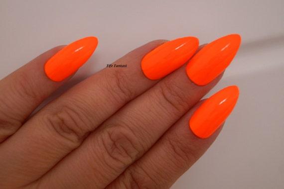 items similar to neon stiletto nails nail designs nail