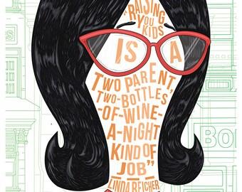 Famous Hair / Lines: Linda Belcher