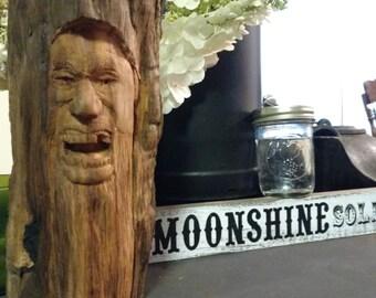 Screemin' hillbilly. hand carved wood art