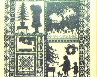 Green Monochrome Christmas Sampler