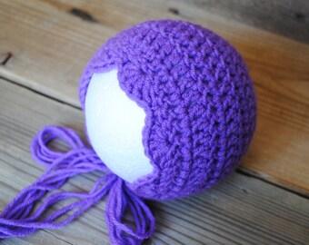 Newborn crochet hat, newborn hat, baby girl hat, newborn crochet bonnet, newborn girl,  newborn photo prop