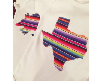 Armadillo and Texas Serape Onesies
