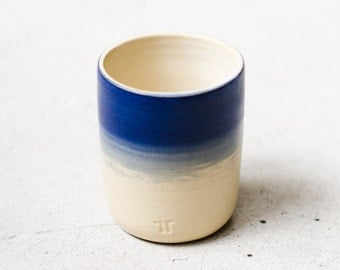 Blue mug for coffee and tea / / blue Cup in minimalist design / / handmade ceramic Cup / / stylish tableware