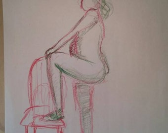 Colour Gesture Drawing 18x24 Newsprint
