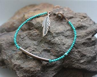 Beaded Bracelet: Tiny Turquoise