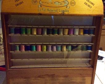 Vintage 50-60's store display-sewing- thread