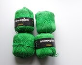 Green yarn, cotton yarn, knitting yarn, crochet yarn, Scheepjes Granada, yarn lot, cheap yarn, light yarn, DK yarn, textured yarn, fantasy