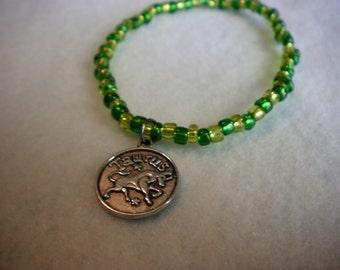 Taurus Zodiac Bracelet, Taurus Charm Bracelet