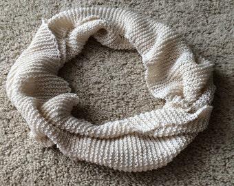 Off White Cotton Infinity Scarf