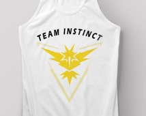 Pokemon Go Shirt Team Instinct Tank Top Black and White Size S M L XL