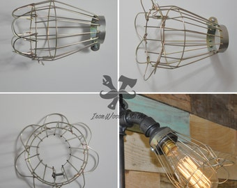 Cage to bulb, wire, industrial, vintage, Edison, ex-hand, protection, shade
