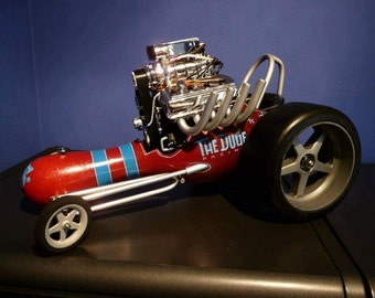 The Dude bowlingpin dragster 1:6 scale scalemodel big lebowski dragteam