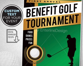 Golf Tournament Flyer Poster Invitation Custom Digital Download