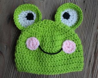 Crochet Animal Frog Baby Newborn Hat Accessory Gift Halloween