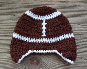 Crochet Baby Newborn Football Hat Boy Accessories Beanies Gift Photo Prop