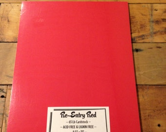 Re-Entry Red Cardstock 8.5 x 11 65 lb QUALITY PAPER