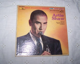 Vintage 1940's, 1950's Artie Shaw EP 45 rpm Record With Picture Cover