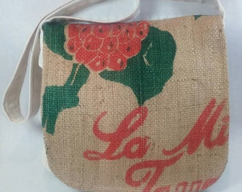 Canvas and coffee sack purse