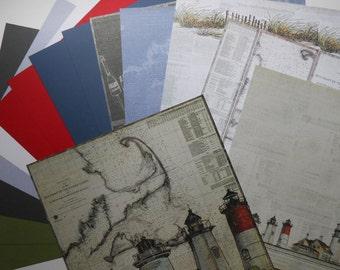 Lighthouse 12x12 Scrapbook Paper 15 Page Set