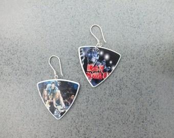 Iron Maiden  Sterling Silver Guitar Pick Earrings (2112)