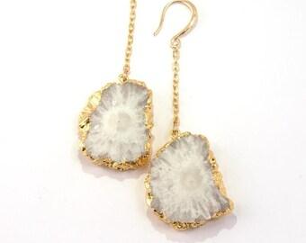 Earrings quartz