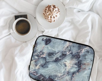 Electric Blue Marble, Marble Print, Marble Design, Neoprene Laptop Sleeve, MacBook Case, Laptop Case, Carry Case, Laptop Bag \ ls-pp044