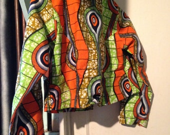 African Print Skirt and Jacket