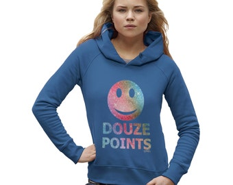Women's Douze Points Smiley Face Hoodie