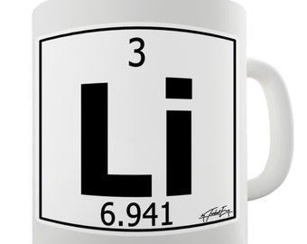 Lithium periodic etsy periodic table of elements li lithium ceramic novelty gift mug urtaz Gallery