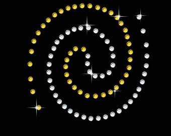 Swirl Spiral Diamante Motif