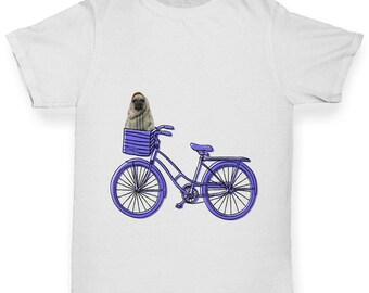 Boy's Pug On A Bike T-Shirt