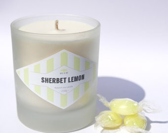 Sherbet Lemon Soy Candle