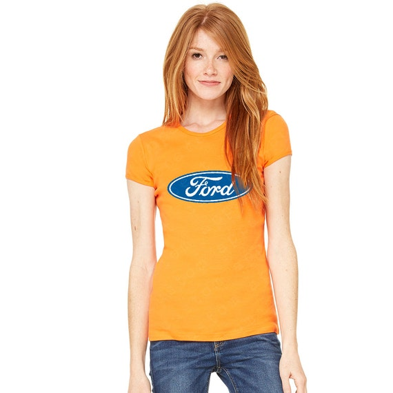 Ford logo ford motor company licensed product women 39 s for Women s company logo shirts