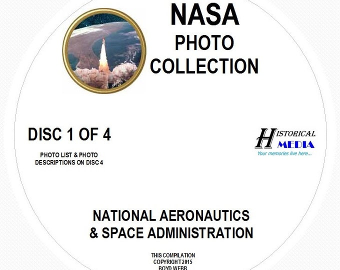 NASA Photo Collection - 2,073 Photos On 4 CDs In .jpg Format - Most Images Are Greater Than 1MB In Size