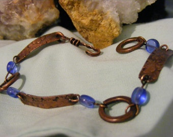 Handmade Hammered Copper Bracelet