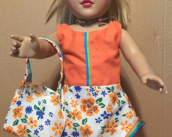 18 Inch Doll Skirt and Purse