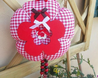 Big flower hanging fabric