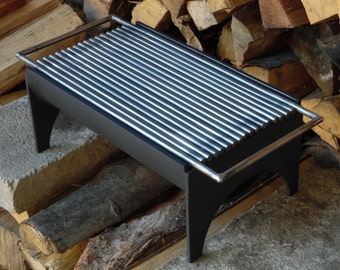 """8""""x14"""" Hibachi grill, compact grill, portable grill, charcoal BBQ"""