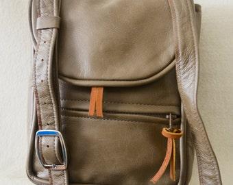 Medium Brown Leather Messenger Bag