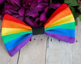 Rainbow Gay and Lesbian Pride Bow