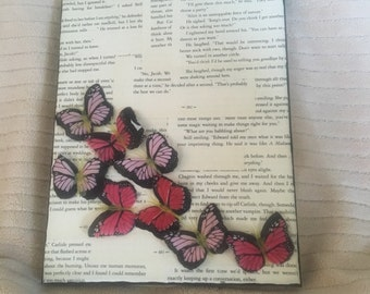Book Page with Butterflies
