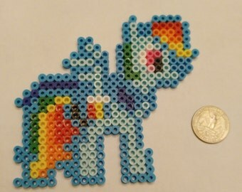 My Little Pony - Rainbow Dash - Perler Art