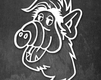 ALF- Vinyl Decal - Multiple colors and sizes